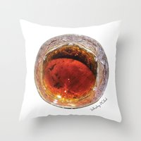 whiskey Throw Pillows featuring Whiskey O'Clock by Gastronomista