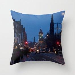 Princes Street Edinburgh 2 Throw Pillow