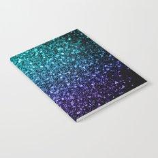 Beautiful Aqua blue Ombre glitter sparkles Notebook