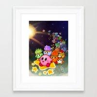 kirby Framed Art Prints featuring Kirby by Art of Alpin Jongari