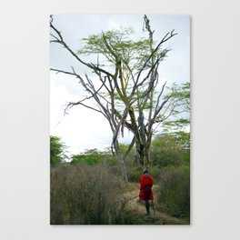 Masai Warrior Canvas Print