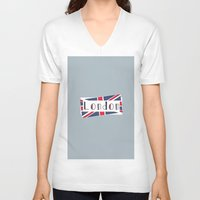 calendars V-neck T-shirts featuring Home, Love, Illustration, Heart, london  by Shabby Studios Design & Illustrations ..