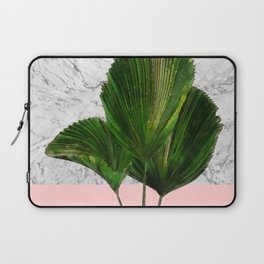 Palm Plant on Marble and Pastel Wall Laptop Sleeve