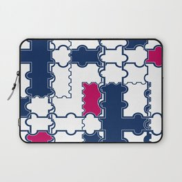 Abstract blue red pattern 2 Laptop Sleeve