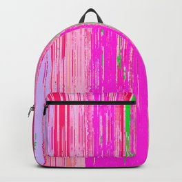 Linear Abstract Pink Backpack