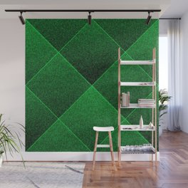 Plush Kelly Green Diamond Wall Mural