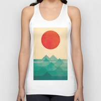 sea turtle Tank Tops featuring The ocean, the sea, the wave by Picomodi