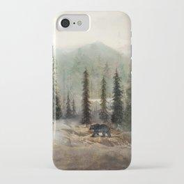 Mountain Black Bear iPhone Case