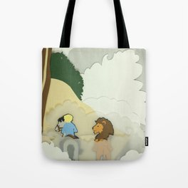 Great Lion in the Fog Tote Bag