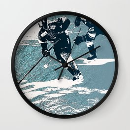 The Break- Away - Hockey Players Wall Clock