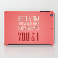 lesbian iPad Cases featuring The Greatest Lesbian Couples by ElekTwick