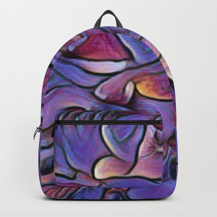 Flowing Soft Petal Abstract - Purple Backpack