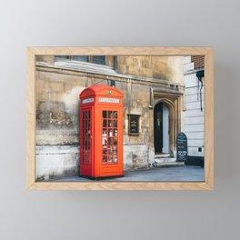 Red telephone box in London Framed Mini Art Print