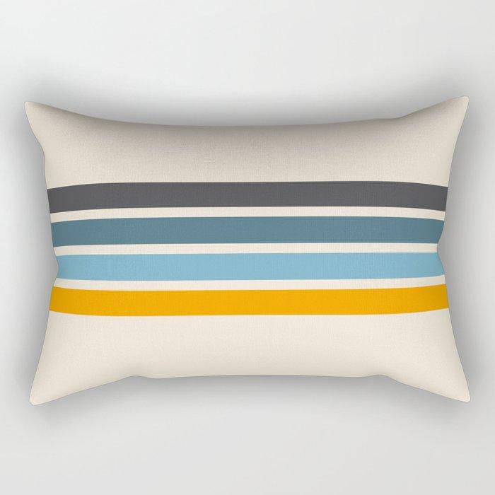 Vintage Retro Stripes Rectangular Pillow