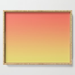 Orange Coral Yellow Gradient Ombre Pattern Serving Tray