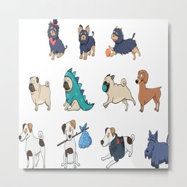 Puppy family Metal Print