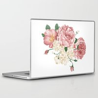 wwe Laptop & iPad Skins featuring Watercolor rose by eARTh