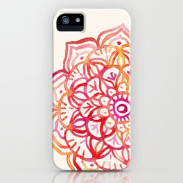 Watercolor Medallion in Sunset Colors iPhone Case