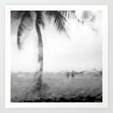 Rainy Day at the Beach Art Print