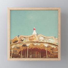 Carousel Lights Framed Mini Art Print
