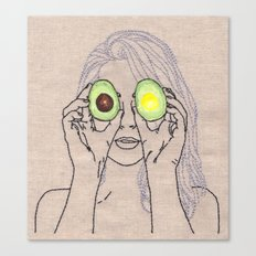 AVOCADO OF MY EYE Canvas Print