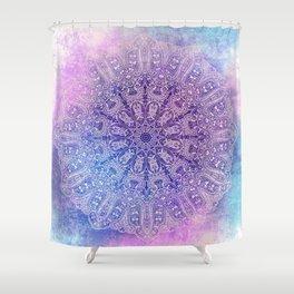 big paisley mandala in light purple Shower Curtain