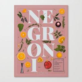 Negroni Canvas Print