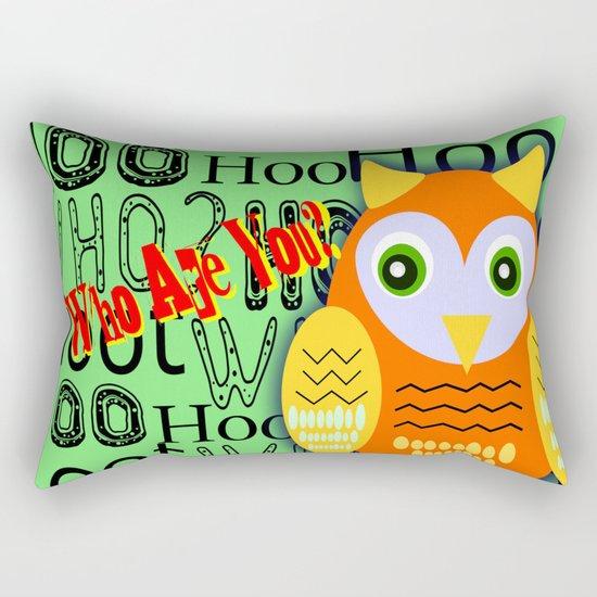 Hoo Are You? Rectangular Pillow