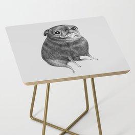 Sweet Black Pug Side Table