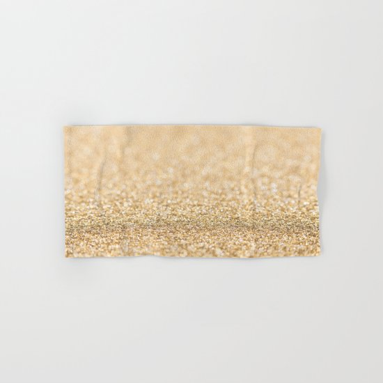 Beautiful champagne gold glitter sparkles Hand & Bath Towel