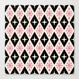 Mid Century Modern Atomic Triangle Pattern 113 Canvas Print