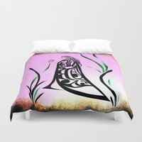 medicine Duvet Covers featuring Medicine Woman 1 by Lou-ann Neel Studio