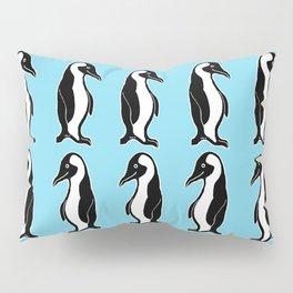 Penguins Pattern Blue Pillow Sham