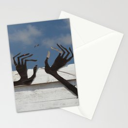 Hands and bird Stationery Cards