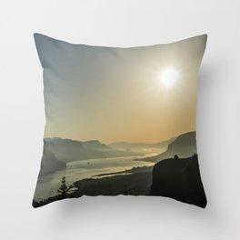 Sunrise Gorge Throw Pillow