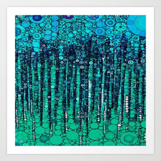 :: Blue Ocean Floor :: Art Print