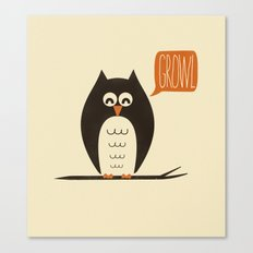 An Owl With a Growl Canvas Print