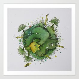 the green planet Art Print