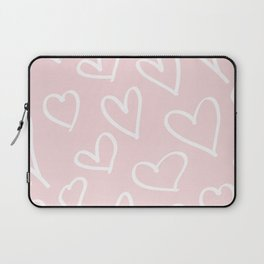 Pink & White-Love Heart Pattern-Mix & Match with Simplicty of life Laptop Sleeve
