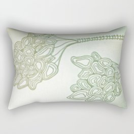 "Hand Drawn ""Alien Flower"" Rectangular Pillow"