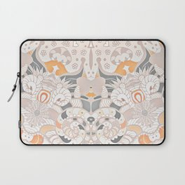 BOHO SUMMER JOURNEY MANDALA - SUNSHINE YELLOW GREY Laptop Sleeve