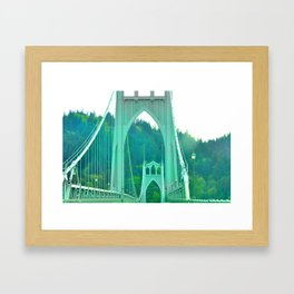 St. Johns Bridge Portland Oregon Framed Art Print
