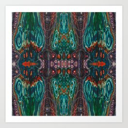Pulse of Kelp (Sonic Sea Surge) Art Print