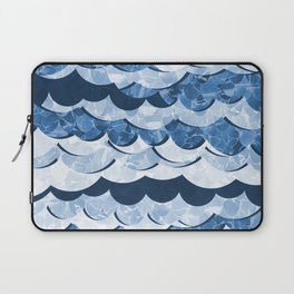 Abstract Blue Sea Waves Design Laptop Sleeve