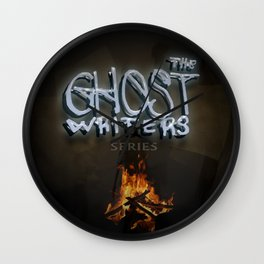 The Ghost Writers Series Logo 2 Wall Clock