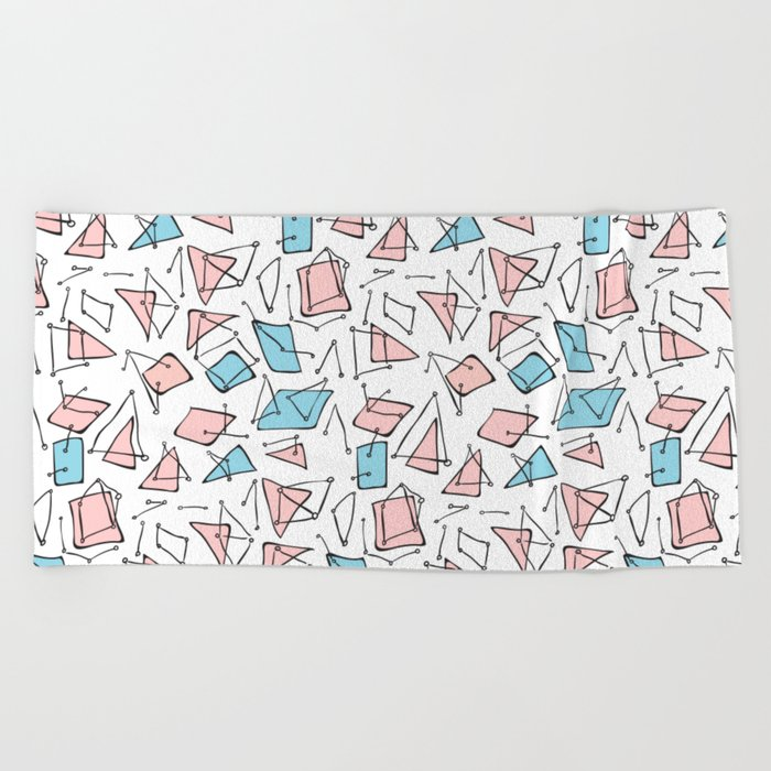Pastel expression Beach Towel