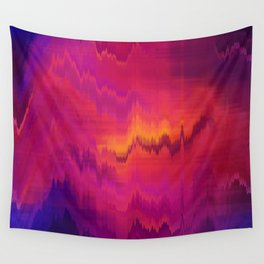 Pink Glitch abstract Wall Tapestry