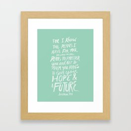 Jeremiah 29: 11 x Mint Framed Art Print