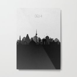 City Skylines: Delhi Metal Print