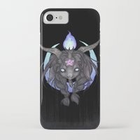 baphomet iPhone & iPod Cases featuring Baphomet V2 by Savannah Horrocks
